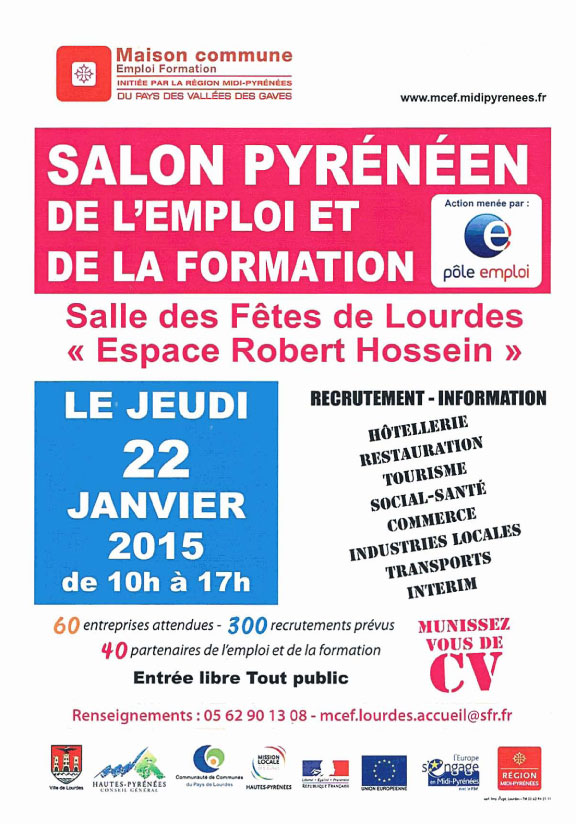 8e salon pyr u00e9n u00e9en de l u0026 39 emploi et de la formation  le 22